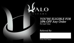 Halo Custom Guitars' Referral Rewards Program Provides Discounts to New Customers While Rewarding Existing Customers