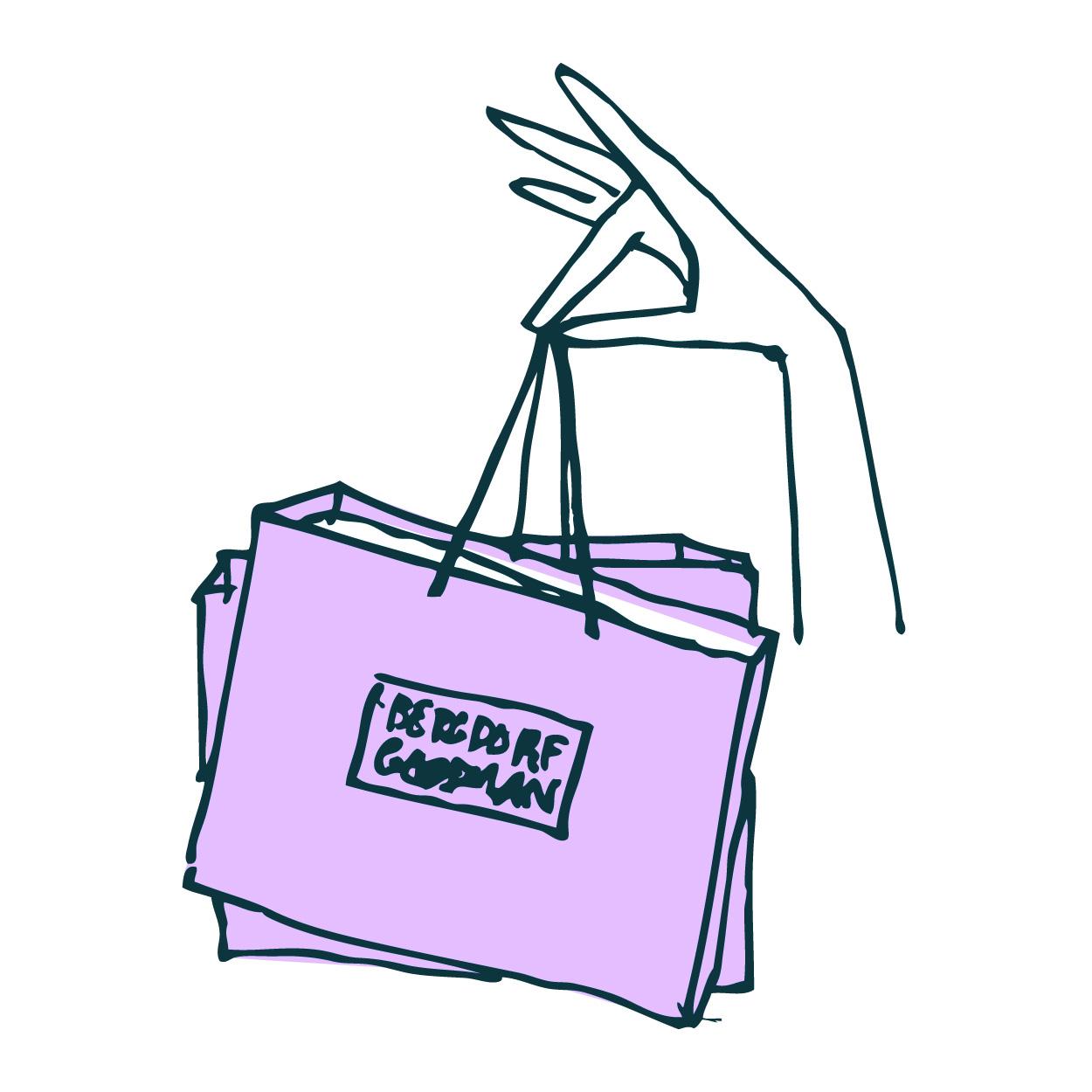 Shopping Bag Logo Bergdorf goodman shopping bag