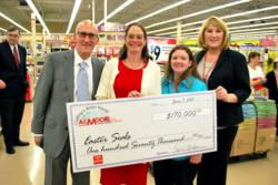 Everyone was all smiles at the recent check presentation of $170,000 by A.C. Moore (NASDAQ: ACMR) www.acmoore.com to Easter Seals Act for Autism campaign.  Customers and staff made donations in April and May as part of A.C. Moore's Crafting a Better World