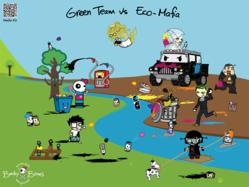Becky Bones Green Team vs Eco-Mafia