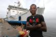 Harding Sesay says goodbye to the Africa Mercy after receiving a transformative surgery on the ship.