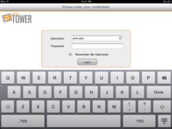 RANDA TOWER Mobile - iPad Login