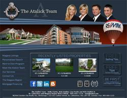 Screen capture of the new Atalick Team Website