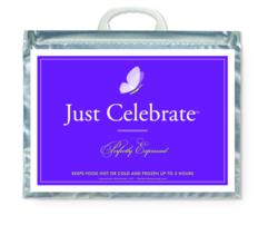 "The ""Just Celebrate"" hot/cold gift bag is perfect for sharing a celebratory hot meal, chilled wine, or cold treat with friends or family.The gift bags are also great for giving or sharing special holiday treats as hostess, teacher, or friendship gifts."