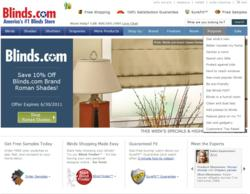 The newly redesigned Blinds.com website
