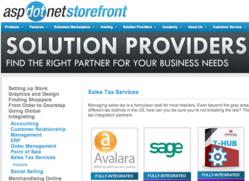 AspDotNetStorefront e-commerce solution provider directory.