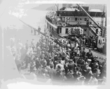 Historical image of Union Steamship 'Lady Alexander' docking at the Port Mellon wharf on the Sunshine Coast in 1948