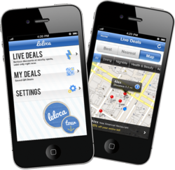 Leloca deal coupon app iphone android mobile technology merchant bottom line
