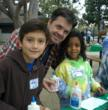 Gay father and his children at Family Day, sponsored by the L.A. Gay & Lesbian Center