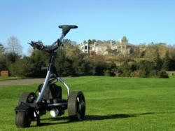 golf trolley, electric golf trolley, golf caddy