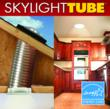 Skylight Tube with low-profile polycarbonate roof lens