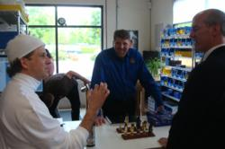 Congressman Rick Larsen touring Theo Wanne Classic Mouthpieces