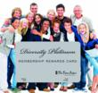 This is an image of the Diversity Platinum Card surrounded by a group of people