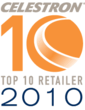 OpticsPlanet Proud to Announce Status as a Celestron Top 10 Retailer of 2010