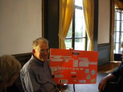 Participant maps out retirement vision plans as a part of  the Retirement Transitions Enrichment Workshop.