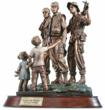 Franklin Mint Three Soldiers Sculpture - Forever Heroes