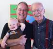 Like grandad, like father, like son: HuggaMind Founder Mies Hora with inspirational son Hudson (Chief App Tester), and father/mentor Richard Hora.
