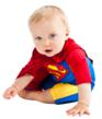 Superman UV one piece with towel cape