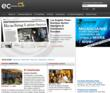 Screenshot of ECHispanic Media homepage