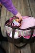 The Covillow is designed to conveniently be rolled or folded and placed into a diaper bag.