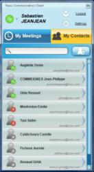The list of all your contacts