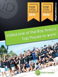 The World's #1 Tech Camp is recognized as a Top Workplace by the Bay Area News Group.