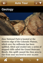 A point of interest for geology in Zion National Park