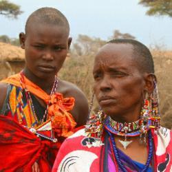 Maasai tribes people in the Mara