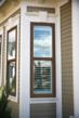 Bronze frame color in the Simonton ProFinish Brickmould 600 product line enhances home exterior.