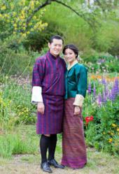 His Majesty the King Jigme Khesar Namgyel Wangchuck with his Royal Bride Jetsun Pema