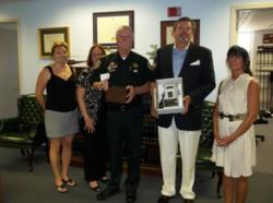 Monroe County Coalition Board Members pictured with IDVisor Z22 CounterTop ID Scanner