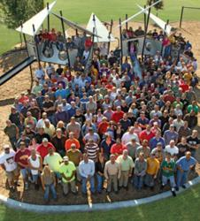 Landscape Structures employees at Barb King Inspiration Park
