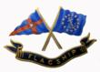 Custom Flagship china by Minton for JP Morgan's yacht Corsair specifically commissioned to represent his years as Commodore of the New York Yacht Club, shows the Commodore's flag and New York Yacht Club burgee