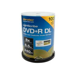 Aleratec DVD+R DL Double Layer 8x LightScribe Duplicator Grade Blank Media