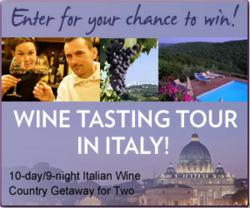 Win a 10 day/9 night Italian Wine Country Getaway for Two