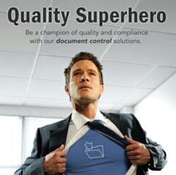 Document control software to be a Quality Superhero.
