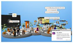 SponsorPay's Offer Widget in action in 3D chat community Club Cooee