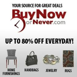 Buy Now or Never at BuyNoworNever.com introduces home furnishings and rugs at discount prices