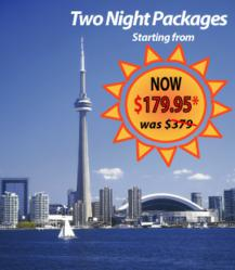 Exclusive hotel summer savings with two night packages starting from $179.95 at the best Toronto hotels.
