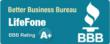 LifeFone is rated A+ by the Better Business Bureau