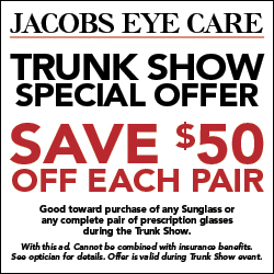 Jacobs Eye Care, Trunk Show, Burberry, Tory Burch, designer sunglasses, prescription glasses, eyeglasses in north jersey, designer sunglasses in north jersey, prescription sunglasses in north jersey, Fendi, Coach, Ray Ban, Maui Jim