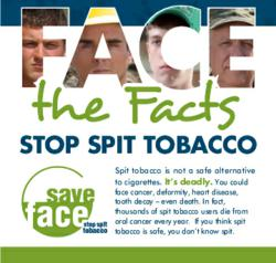"West Virginia ""Save Face"" program helps promote awareness of dangers of spit tobacco"