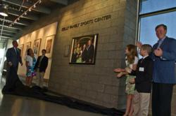 The Kelly Family Sports Center is officially dedicated.