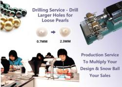 pearls drilling and customized made to order