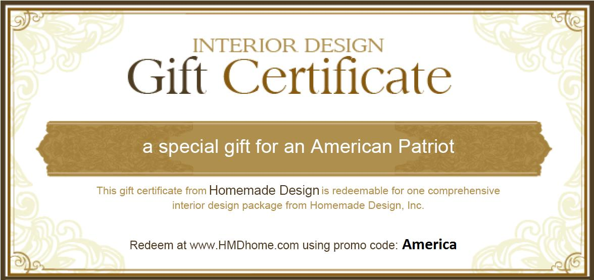 Celebrate American Independence With Free Interior DesignFree Design During The Month Of July Homemade Clients In All 50 States Can