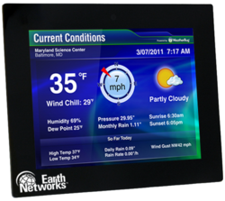 Earth Networks LCD Weather Display