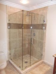 Heavy Shower Enclosure Installed By Star Glass San Diego