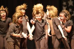 """A scene from """"We Are Monsters"""", a new children's musical from Beat by Beat Press."""