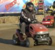 Art Neavill, National Lawn Mower Racing Hall of Fame driver, in action
