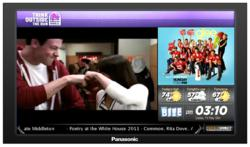 screen shot showing Glee promo on indoorDIRECT's dining room network